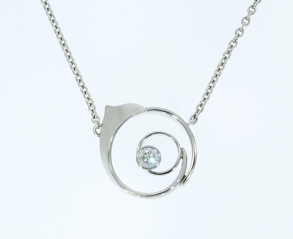 "Diamantschmuck Collier ""Sonne"""
